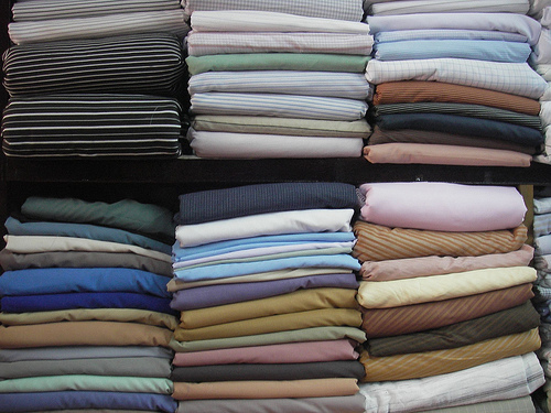 Dress shirt fabrics bunches and bolts
