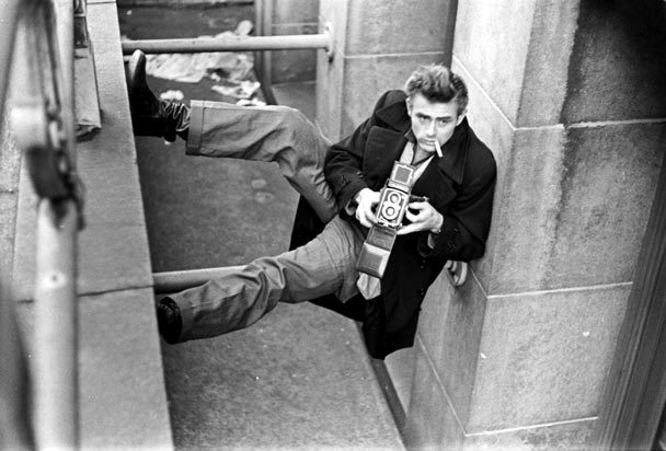Shooting on a wall style icon james dean