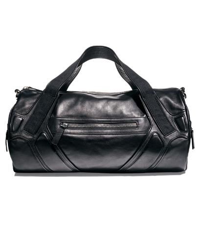 Leather duffle bag man's winter wardrobe