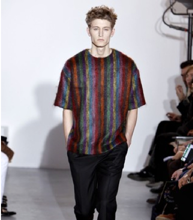 Man's winter wardrobe t-shirt sweater colored