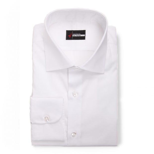 Non Iron White Dress Shirt by Deo Veritas