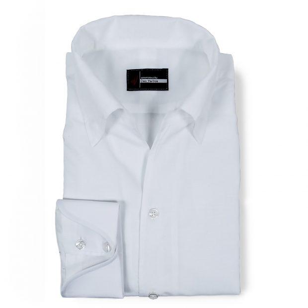 Linen / Cotton White Dress Shirt