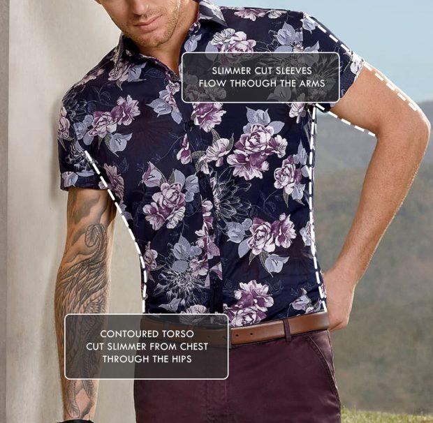 mens short sleeve dress shirt torso