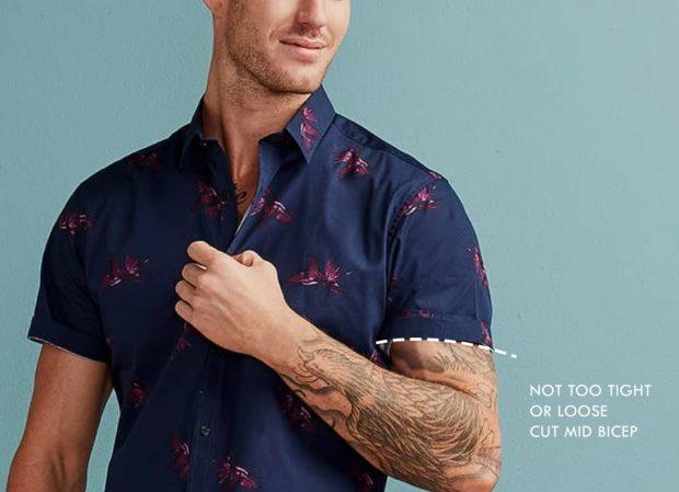 mens short sleeve dress shirt sleeve length