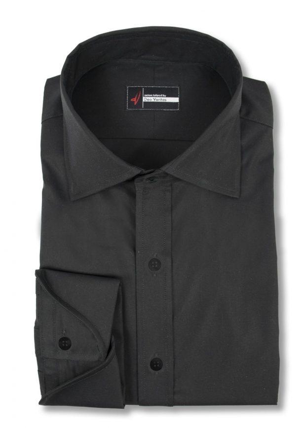 mens black dress shirt with cocktail cuffs