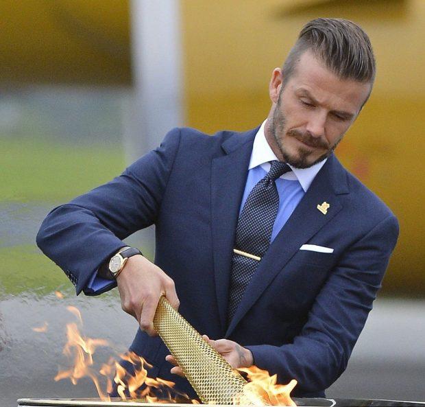 contrast collar shirt Beckham