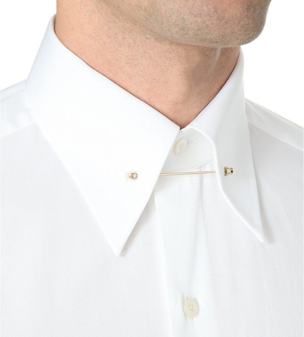 Collar Bar eyelets on Tom Ford Spectre shirt from James Bond