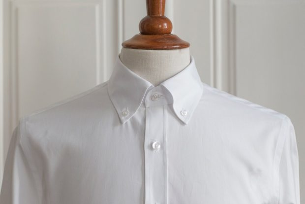 Button down collar dress shirt example