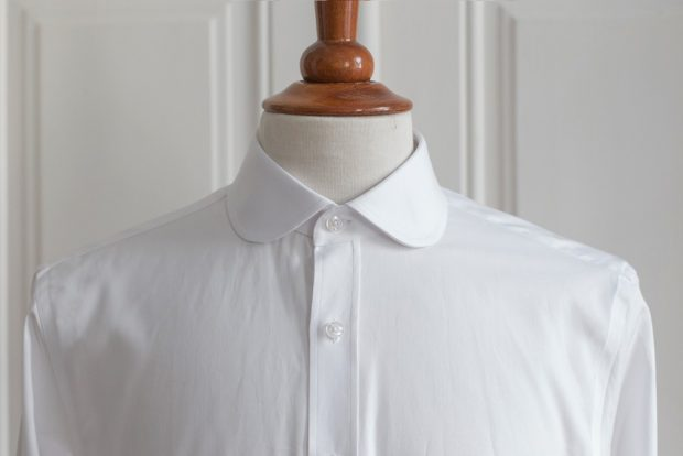 Club collar dress shirt