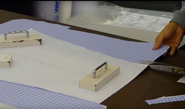 Bespoke and made to measure shirts: Cutting out the pattern on fabric