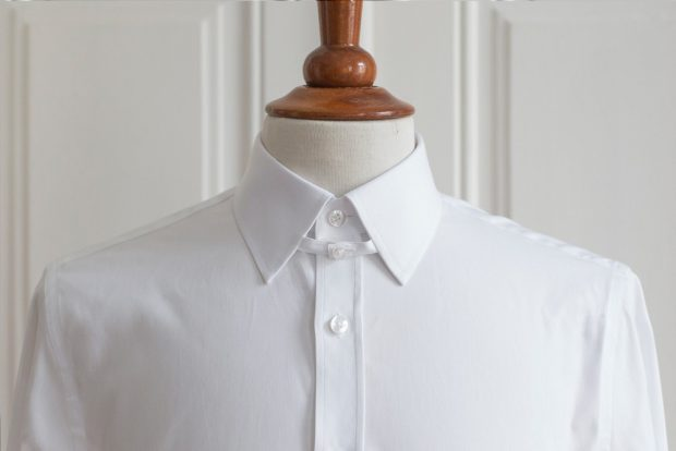 Tab collar dress shirt