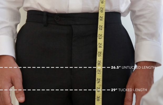 Untucked Vs. Tucked In - A Guide To Dress Shirt Length - measuring up