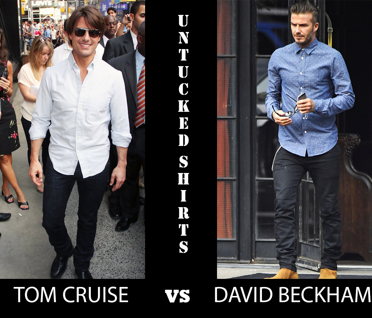 Untucked Vs Tucked In A Guide To Dress Shirt Length Unfused