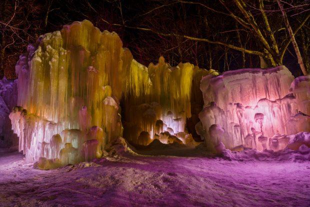 Winter Getaway: Vermont - ice castles