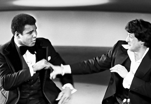 Boxing Legend And Style Icon Muhammad Ali: messing with stallone