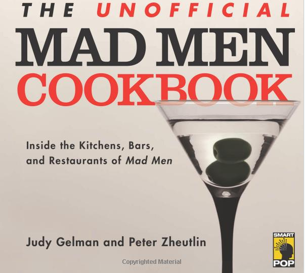 mad men cookbook with vintage cocktails
