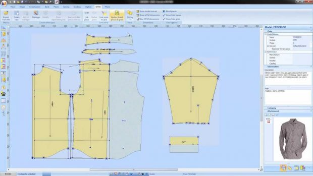 Bespoke and made to measure shirts: Made to measure shirt patterns on screen