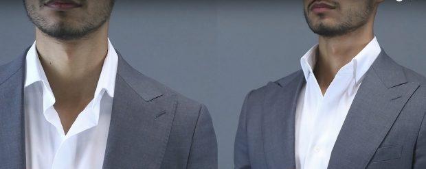 weak collar vs. perfect shirt collar