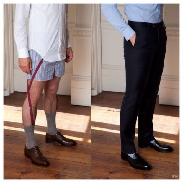 Our Guide To Keeping Your Dress Shirt Tucked In All Day: shirt garters