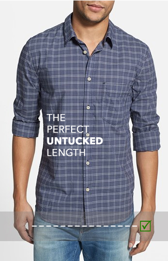 Untucked vs tucked in a guide to dress shirt length for Dress shirt vs casual shirt
