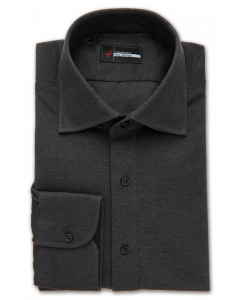 Charcoal Pique Polo Knit Dress Shirt