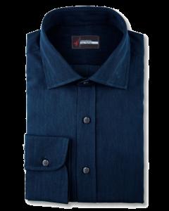 Navy Indigo Denim Dress Shirt