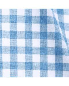 Melrose - Blue Gingham Flannel Melange