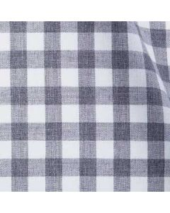 Melrose - Smoke Grey Gingham Flannel Melange