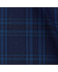 Exeter - Navy & Blue Plaid Melange