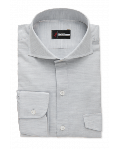 Light Grey Pique Polo Knit Dress Shirt