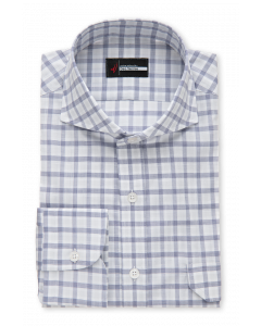 La Palma Lux Lavender Grid Dress Shirt
