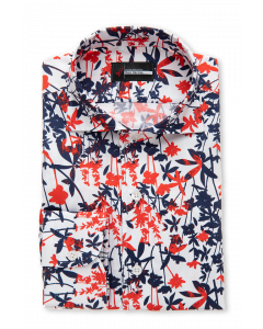 Argentum - Large Floral Print Dress Shirt