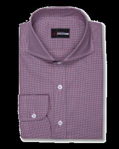 Modena Red Houndstooth Check Dress Shirt