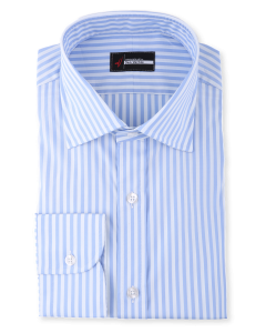 Sylvia - Carolina Blue Stripe Performance Stretch Dress Shirt