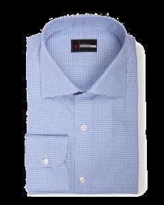 Vega - Blue Oxford Houndstooth Dress Shirt