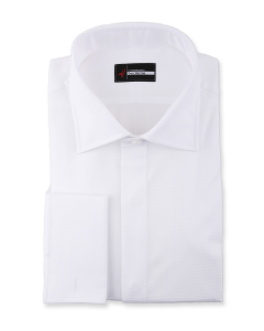 Söktaş Noblesse - White Houndstooth 120s Dress Shirt