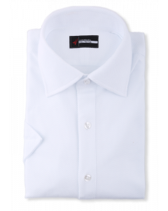 Honeycomb White Polo Knit Dress Shirt