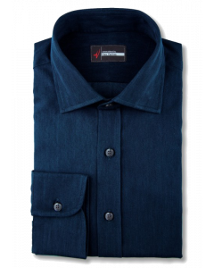 Navy Indigo Denim Dress Shirt