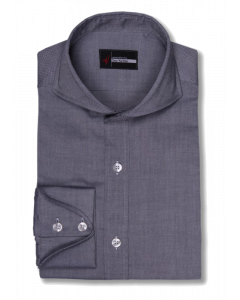 Cranford - Medium Gray Coarse Oxford Dress Shirt