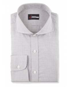 Wessex Grey Mini Houndstooth Flannel Dress Shirt