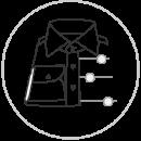 Custom dress shirt design icon